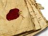 manuscript with stamp